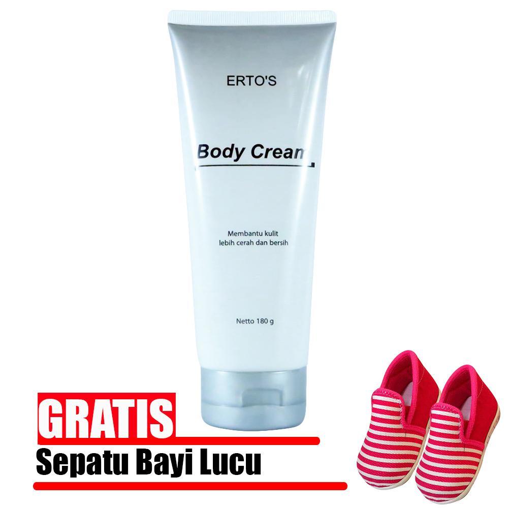SangJawara - PROMO Ertos / Erto's Body Cream Original - Pemutih dan Penghilang Bekas Luka Original - Gratis Sepatu Bayi Keren