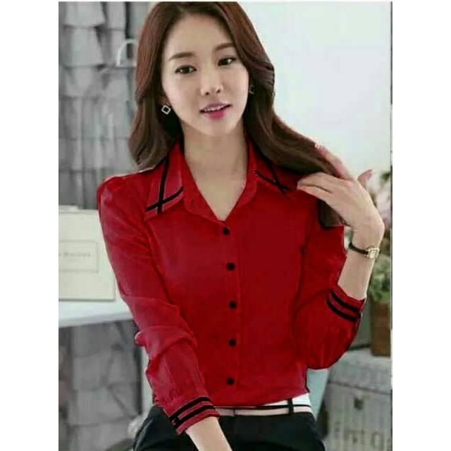 M Fashion - kemeja wanita lengan panjang angel / tunik wanita / blouse / atasan /