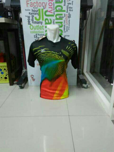 Terlaris MZ01 Baju Volly Futsal Motif Lahar Merapi