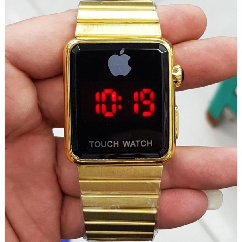 Iphone Apple Touch Watch I Phone Gold Jam Tangan Wanita Pria