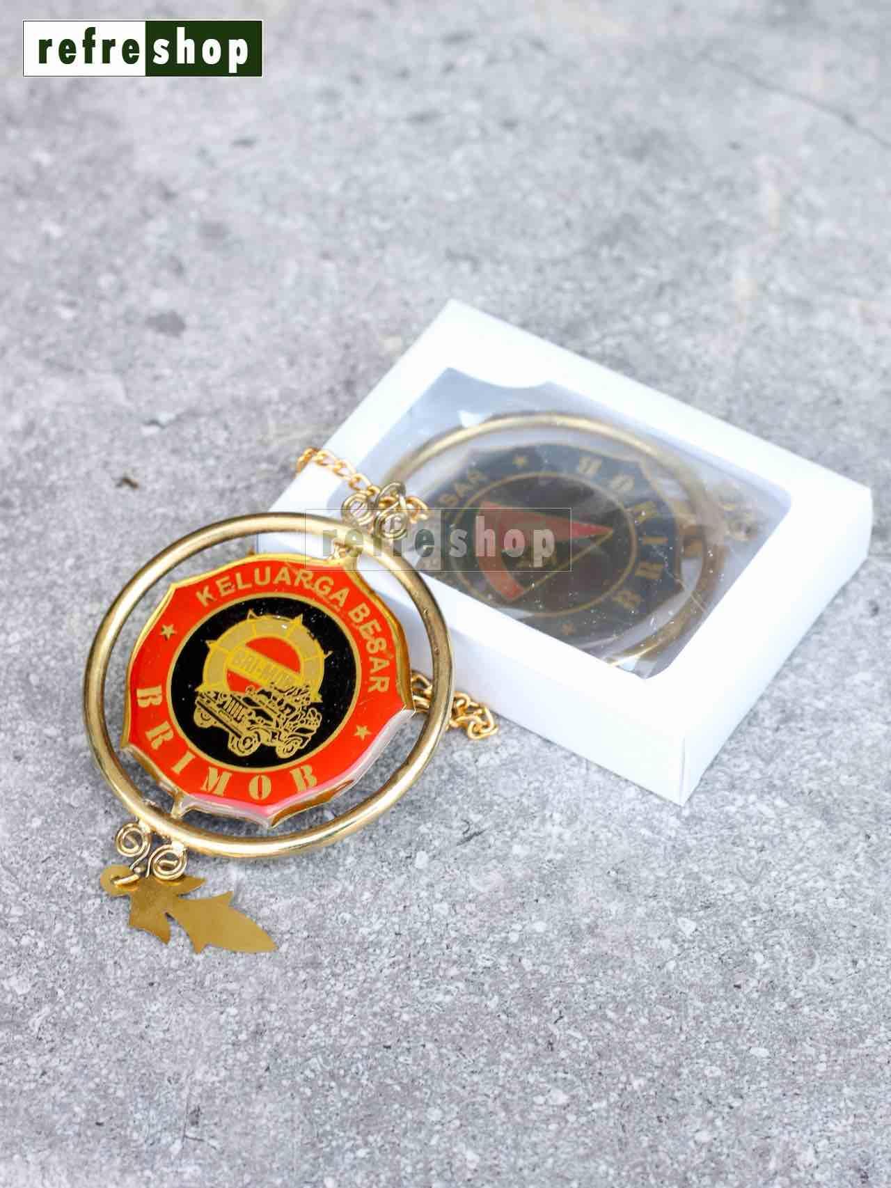 Gantungan Kaca Spion Aksesosris Mobil Elegan Keluarga Besar Brimob GMS0201BRHM Refreshop