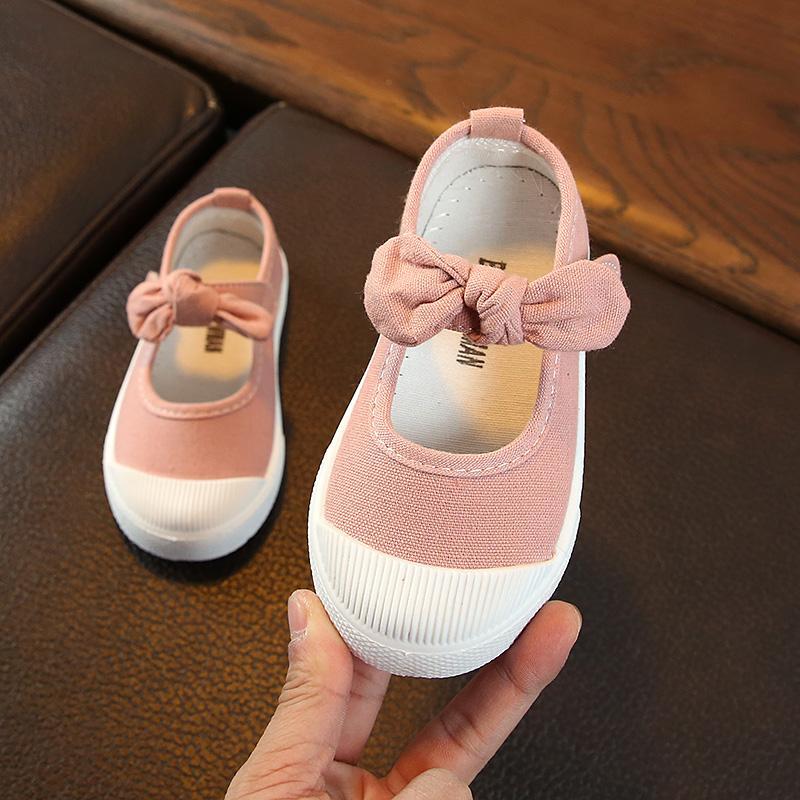 2018 Musim Semi dan Musim Gugur Petpet Sepatu kanvas 1-6 tahun anak prempuan sepatu