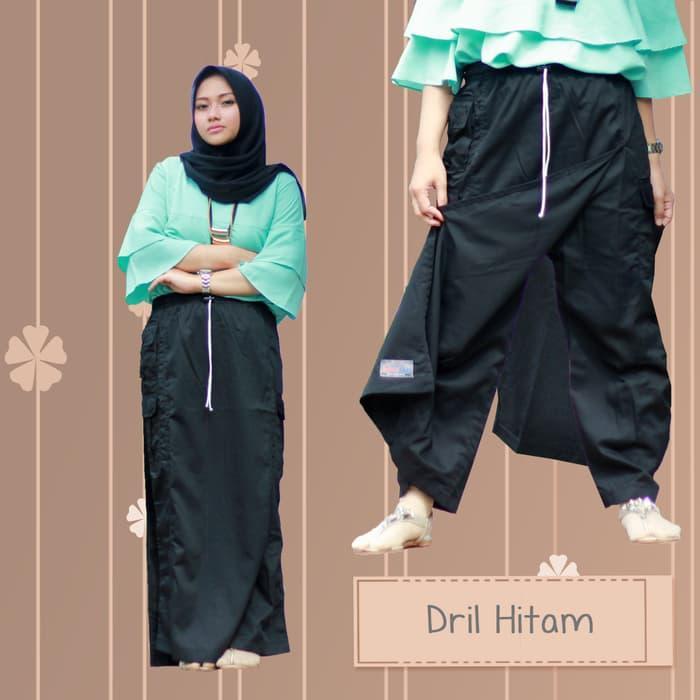 Rok Celana Muslimah Bahan Drill Original