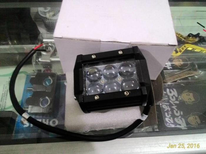 cree worklight 6 led 18watt berlensa  ( klakson motor mobil keong denso suara waterproof telolet hella polisi sepeda fer )