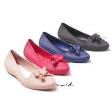 Flat Shoes Jelly - Sepatu Balet Jelly Wanita Aksen Pita 1709 Warna Dikirim Acak