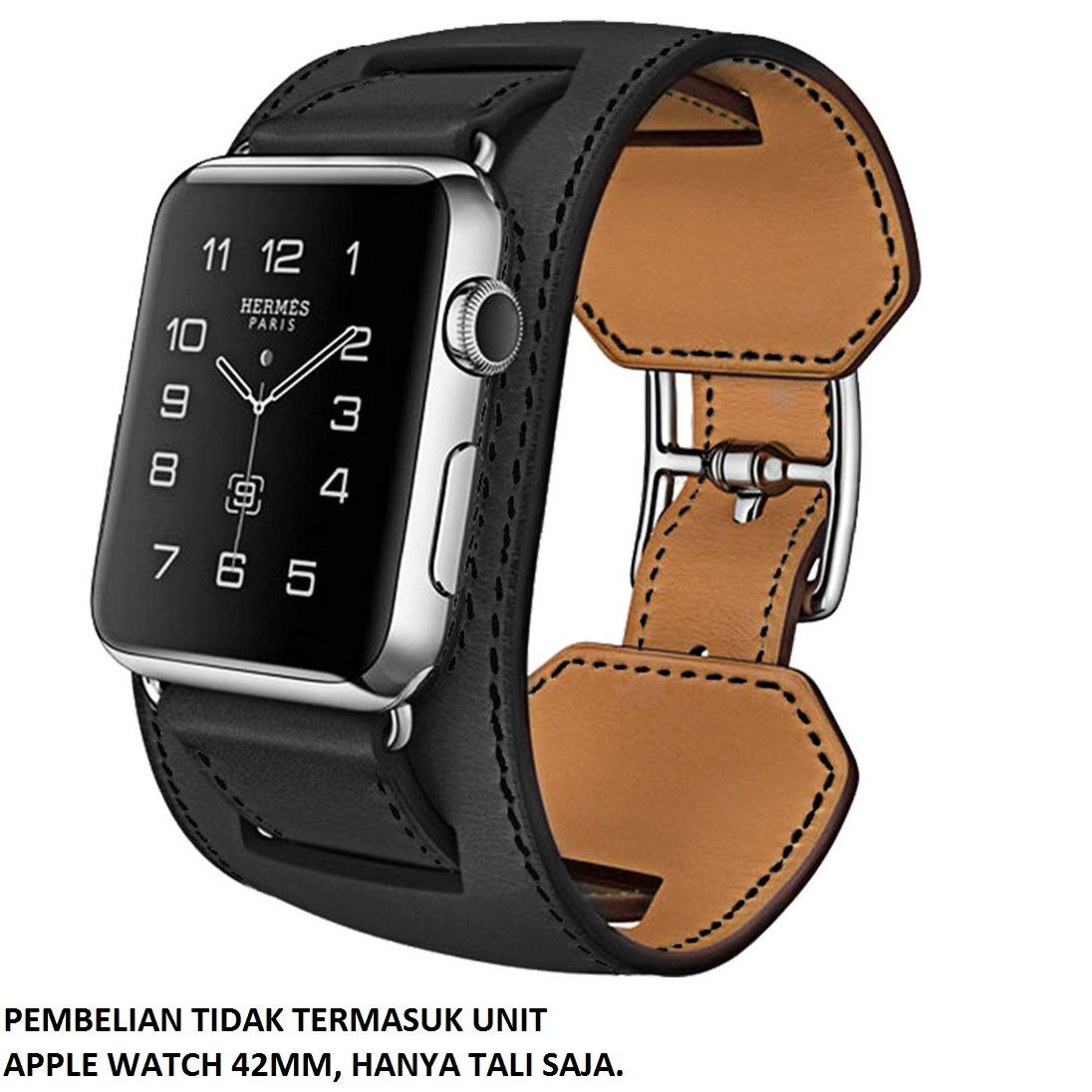 Hoco 3 in 1 Package Leather Band for Apple Watch 42mm - Hitam