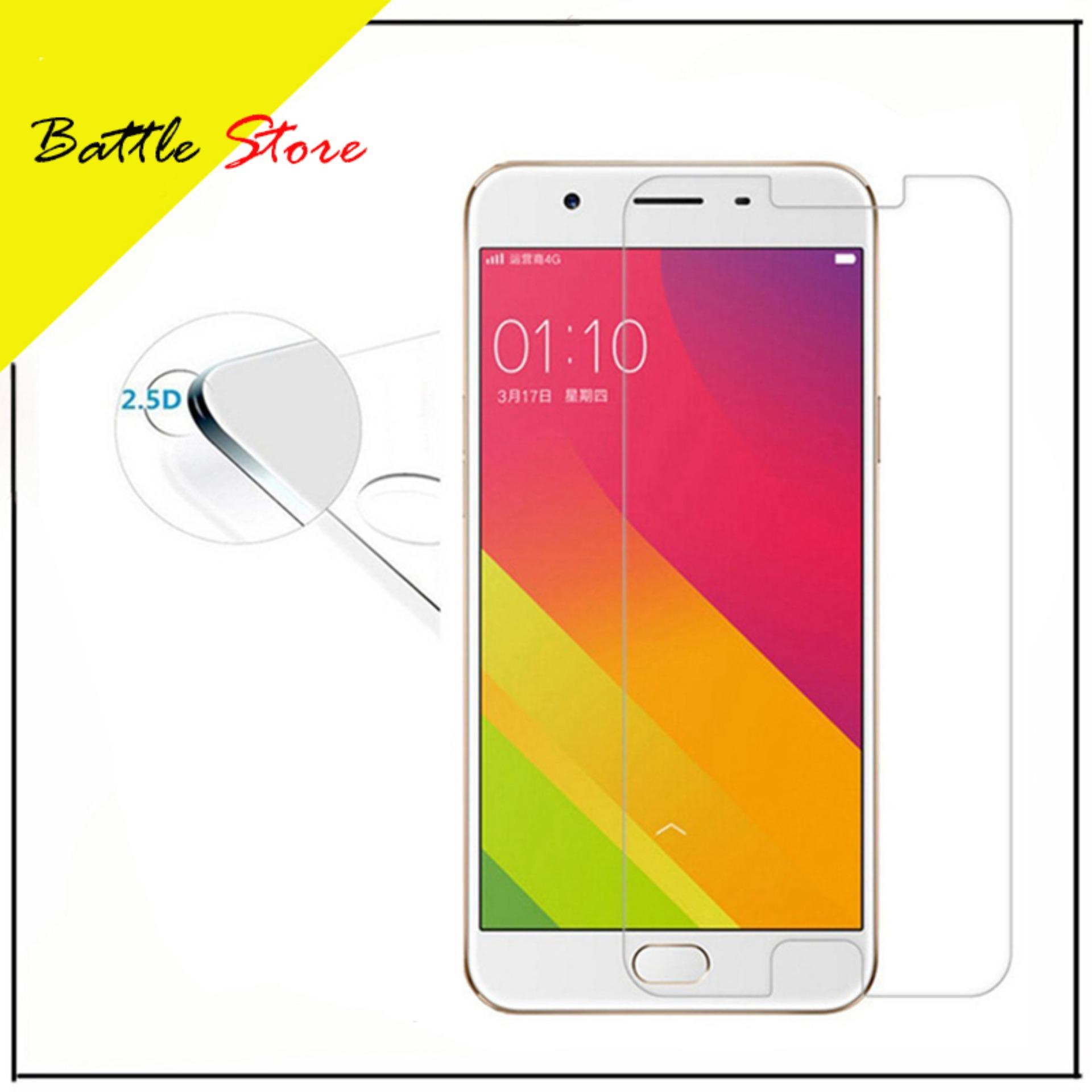 Oppo Joy R1001 Smile Screen Protector Tempered Glass / Anti Gores Kaca - White Clear