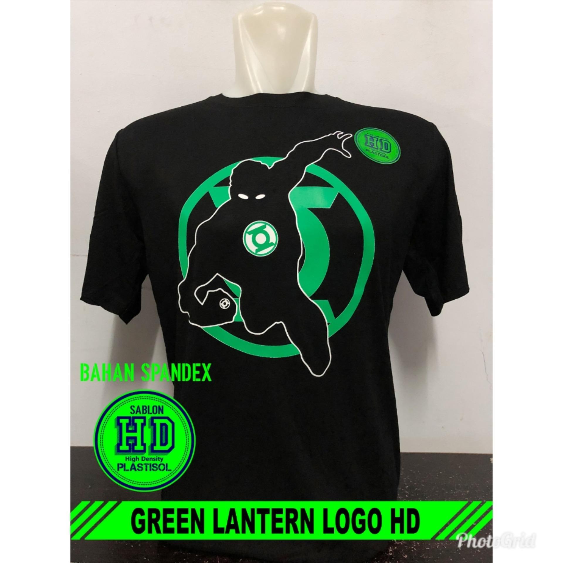 ... Gracestore Kaos T shirt Distro Premium Green Lantern Logo Hd Hitam