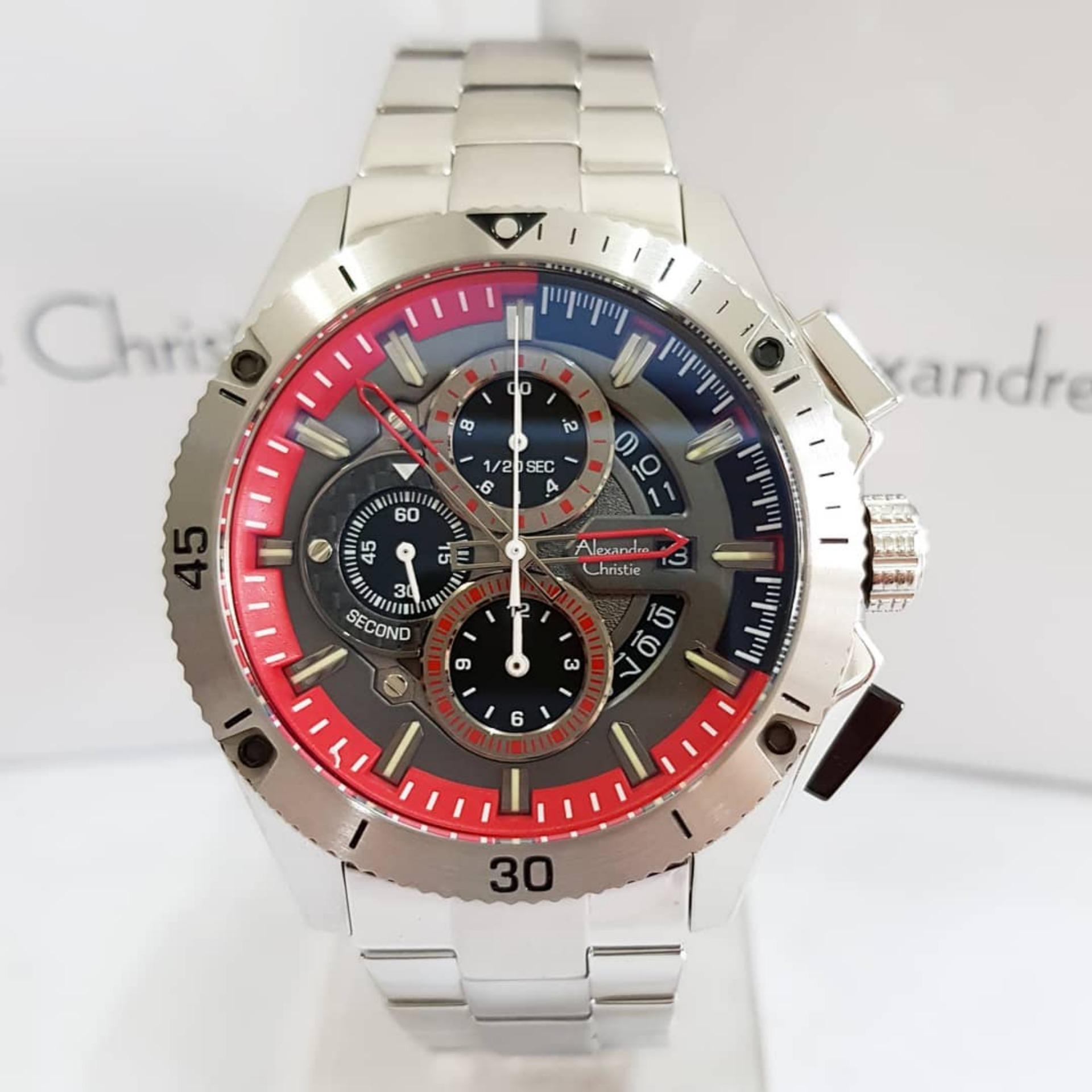 Alexandre Christie 6465M Jam Tangan Pria   Cowok Stainless Steel ee69a9f06c