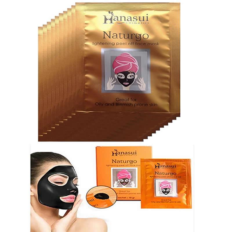 Hanasui Naturgo Masker Lumpur Wajah - 1 Box 5 Isi Sachet