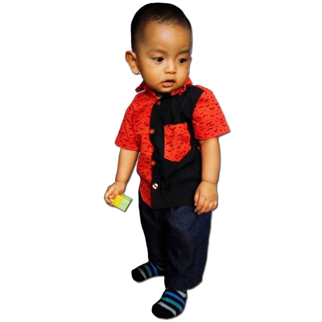 eLBi - Kemeja Anak Bayi Motif Little Bee Boutique / Baju Anak / Baju Anak Laki-laki / Baju Casual Anak Balita / Kemeja Anak Laki-laki / Kemeja Anak