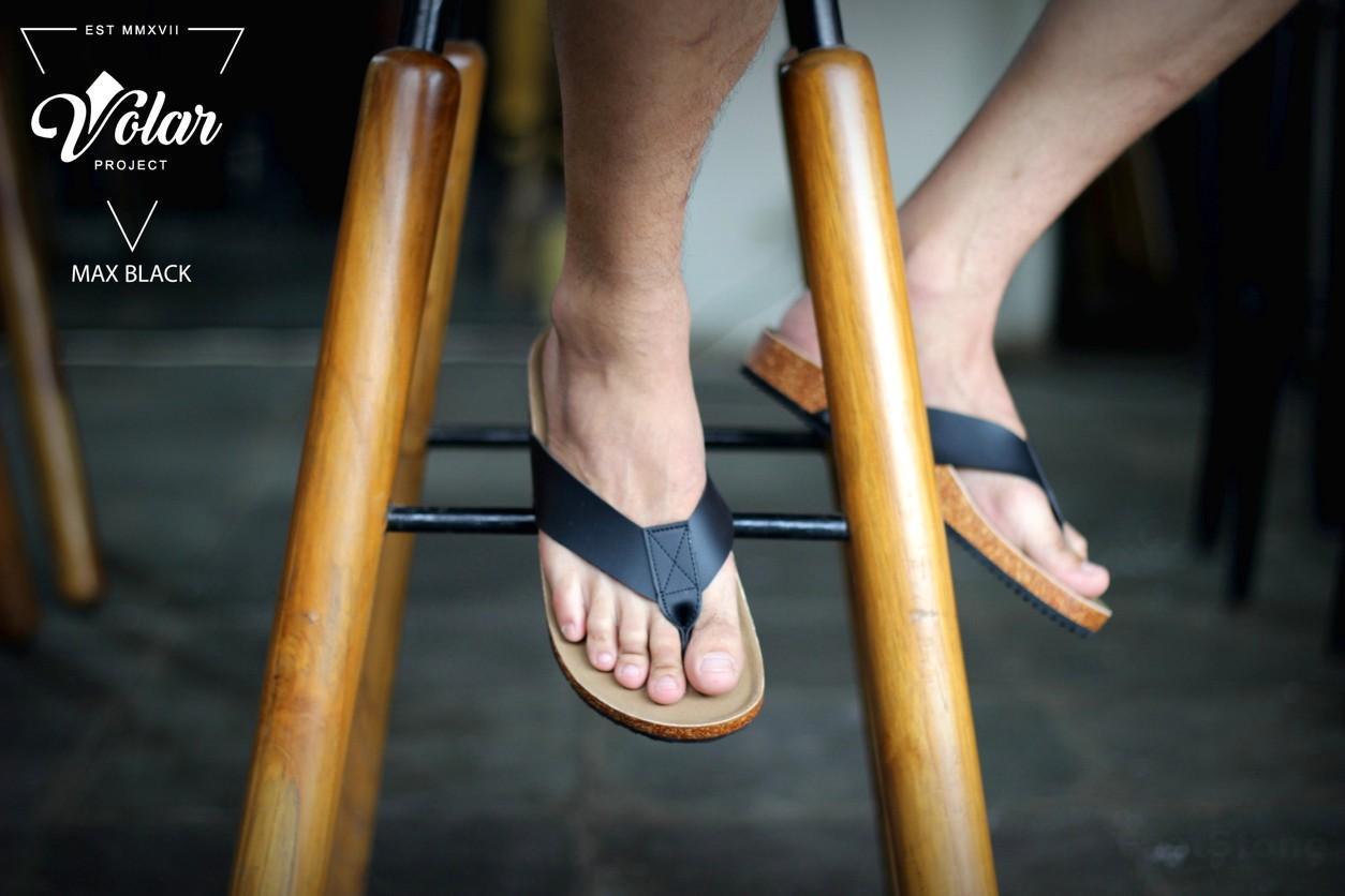 Goodness MAX Black - Sandal Birkenstock Sandal Kasual Pria Santai Kulit Asli Murah Original Gaya Maskulin Pantai Sandal Rumah Sandal Jenpit Formal Casual