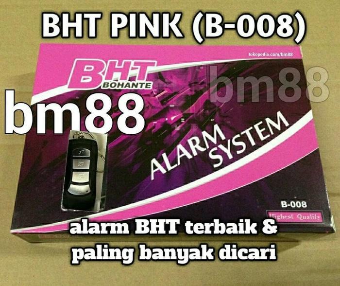 BHT Pink (B-008) Alarm Motor Terbaik Dan Paling Banyak Dicari | ( gembok alarm motor anti maling koper sepeda pagar cakram kinbar kode tas mobil clock rumah sensor gerak pintu digital remote lock bht ) |