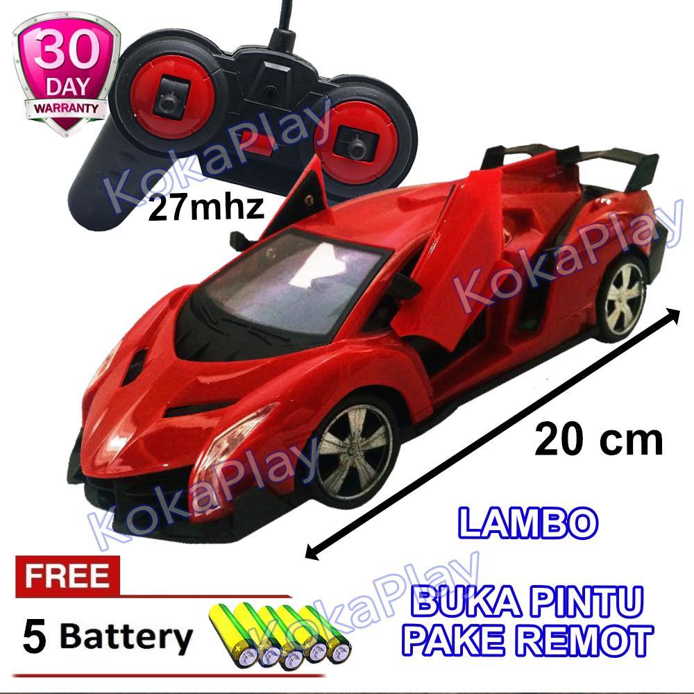 KokaPlay RC Speed Rider Mobil Sports Buka Pintu Remote Control Lampu Depan Mainan Anak Edukasi Mobil Balap Ferrari Lambo Bugatti + Free 5 Baterai