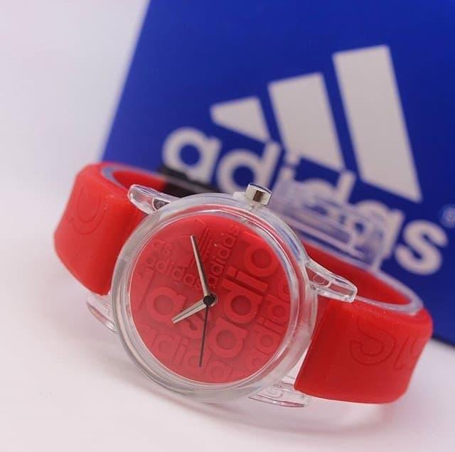 Jam Tangan Pria Wanita Murah Adidas Sky Rubber Red