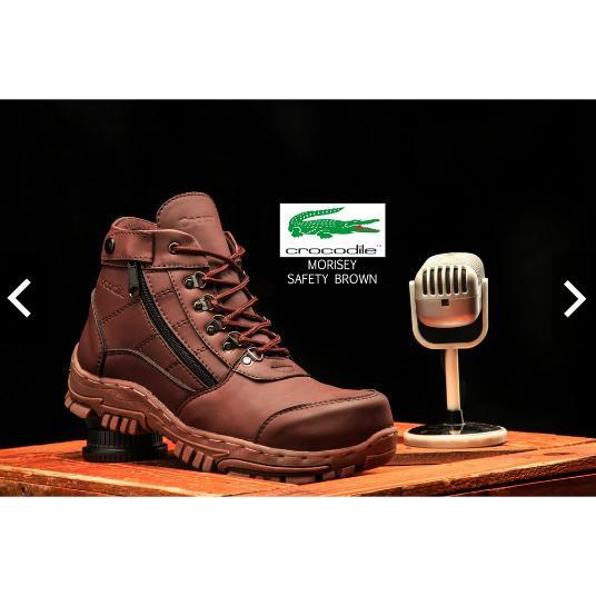 Sepatu boots safety CROCODILLE ZIPPER MORISEY  touring kerja murah grosir