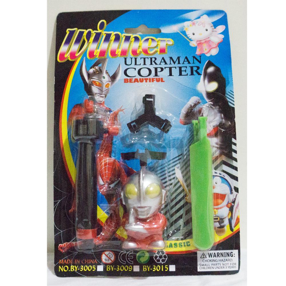 Mainan figure karakter terbang bulat - Winner Copter