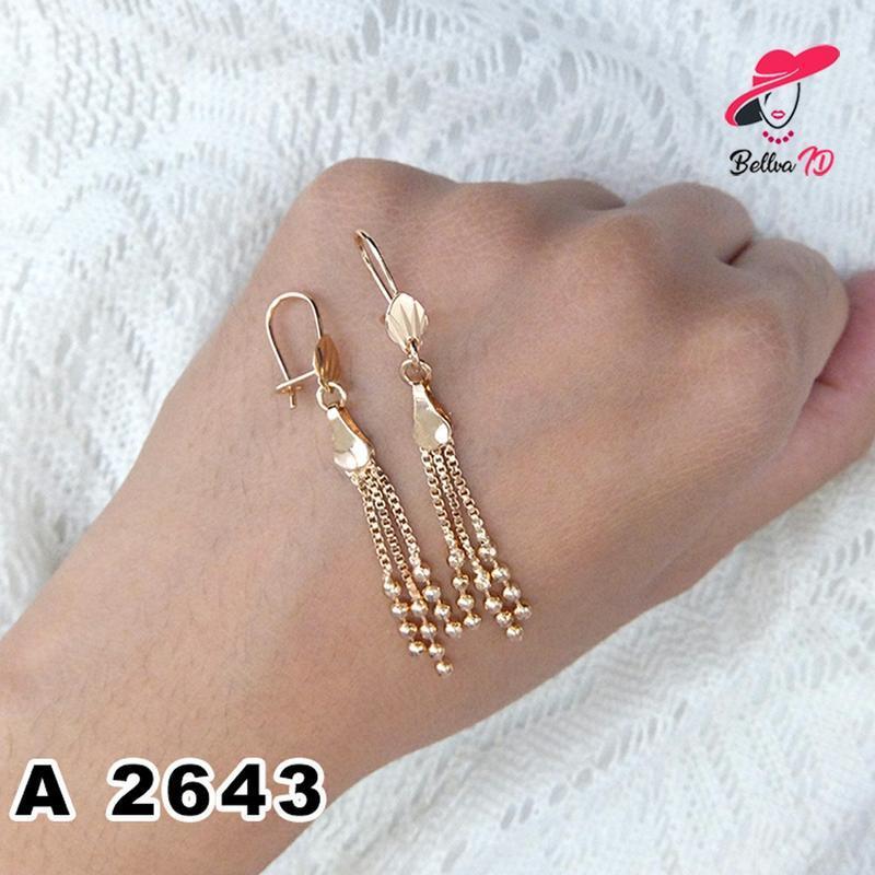 Jual Perhiasasan Anting Rumbai Lapis Emas A 2643