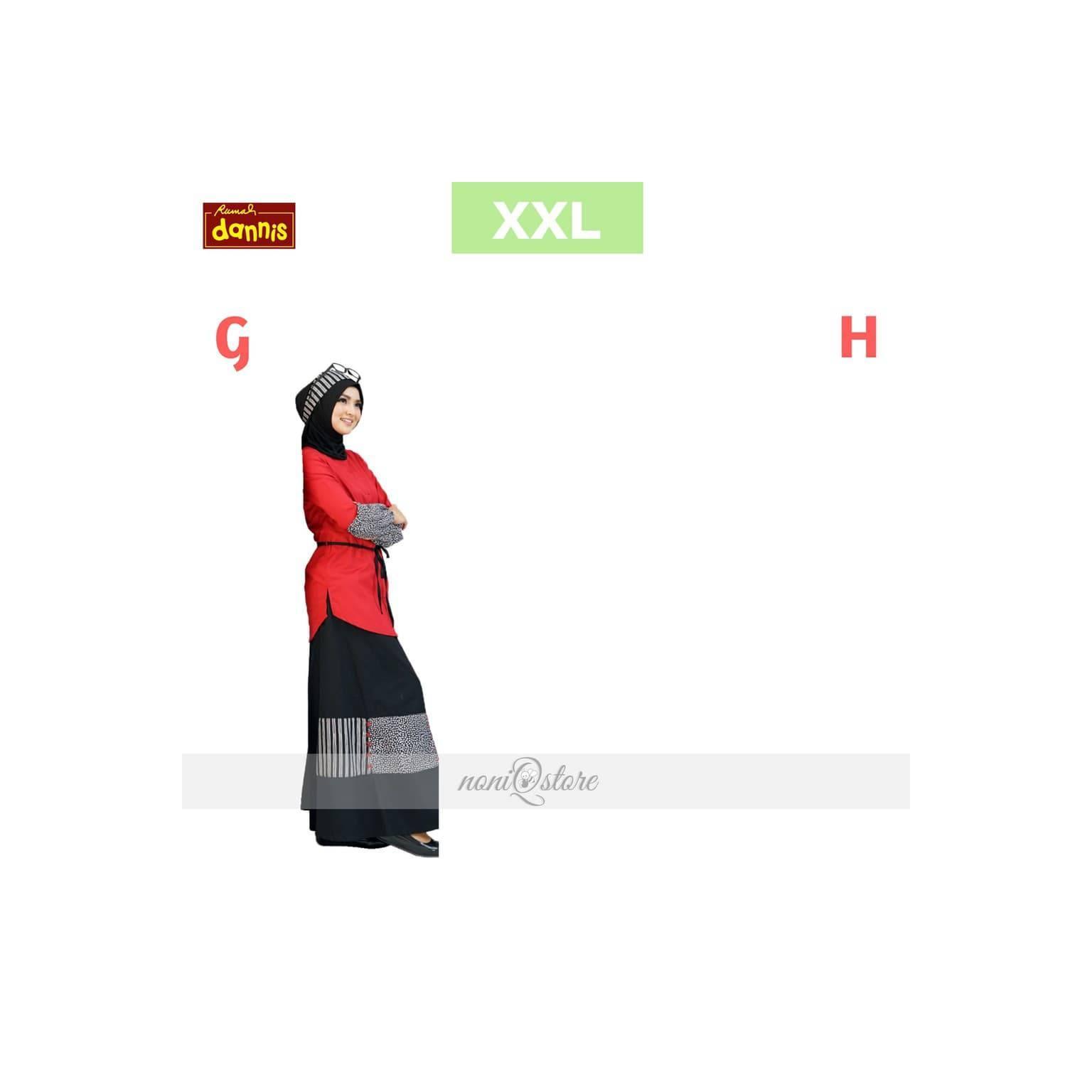 Gamis Dewasa DANNIS Size XXL Abaya Ibu Setelan Dewasa Baju Muslim 01