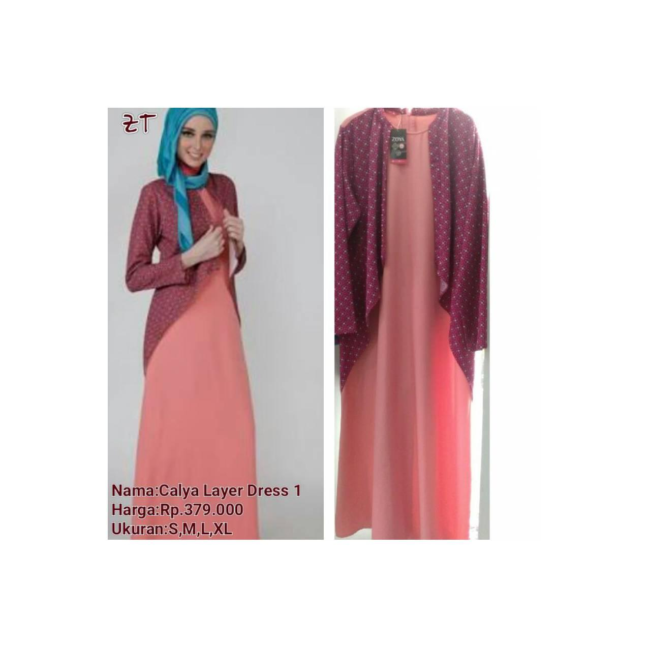 Zoya Gamis Calya Layer Dress 1