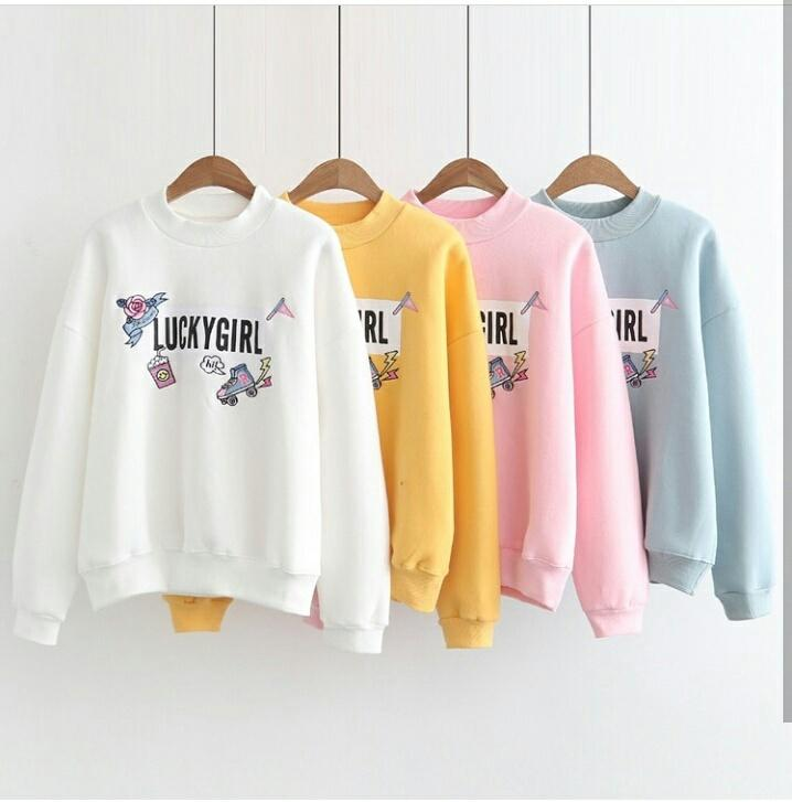 Suki Sweater Wanita Lengan Panjang Girl   Tumblr Tee Wanita   Sweater Jaket edeb82e8b8