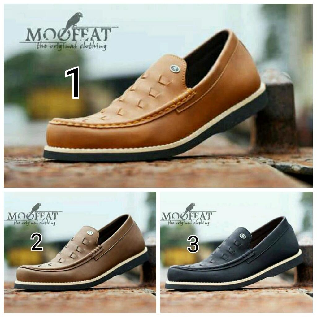 Buy Sell Cheapest Grosir Sepatu Moofeat Best Quality Product Deals Lunnar Tan Mocassin Slop Paling Laku