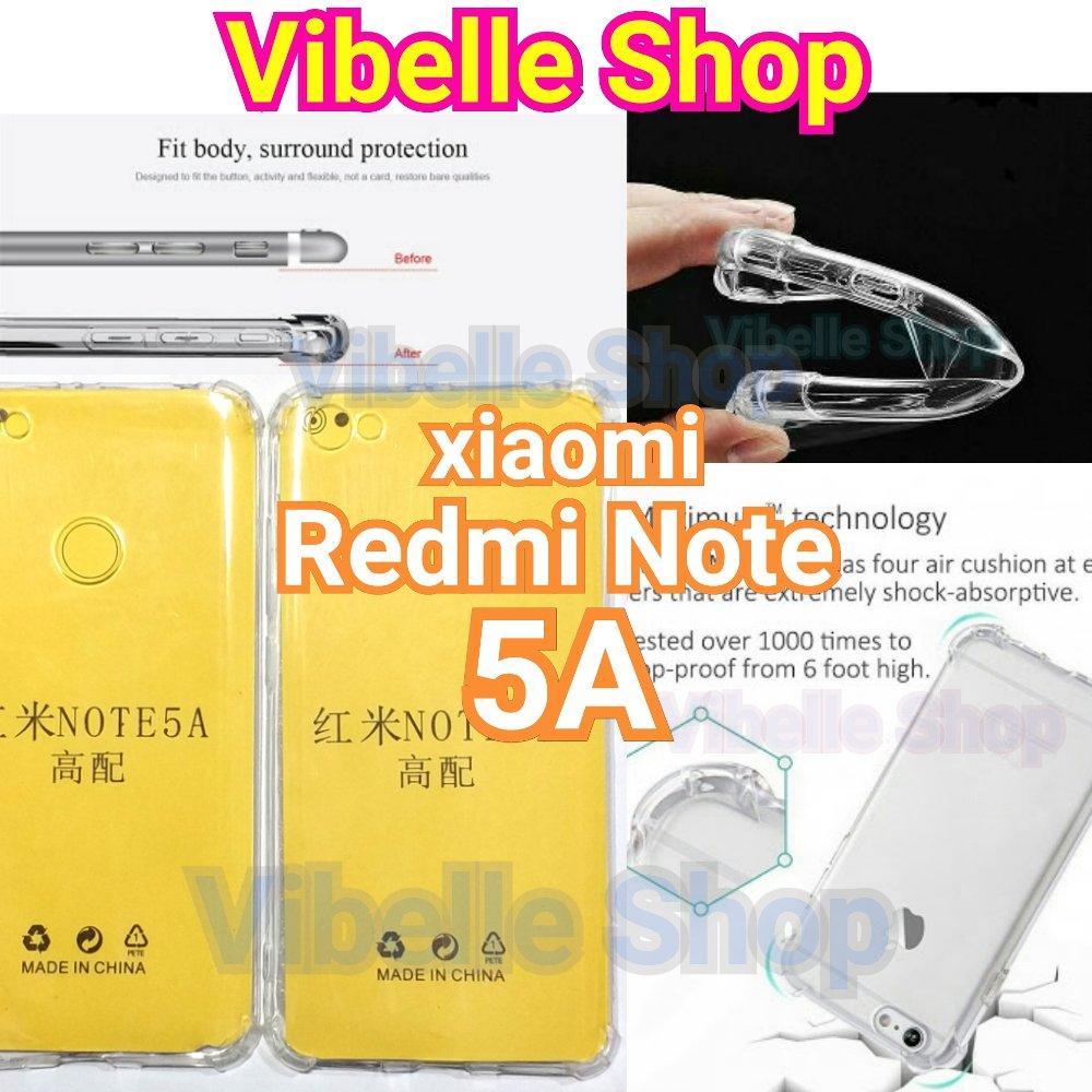 Case Anticrack Anti Crack Shock Benturan Elegant Softcase Forxiaomi Xiaomi Redmi Note 5a No Fingerprint Prime Clear