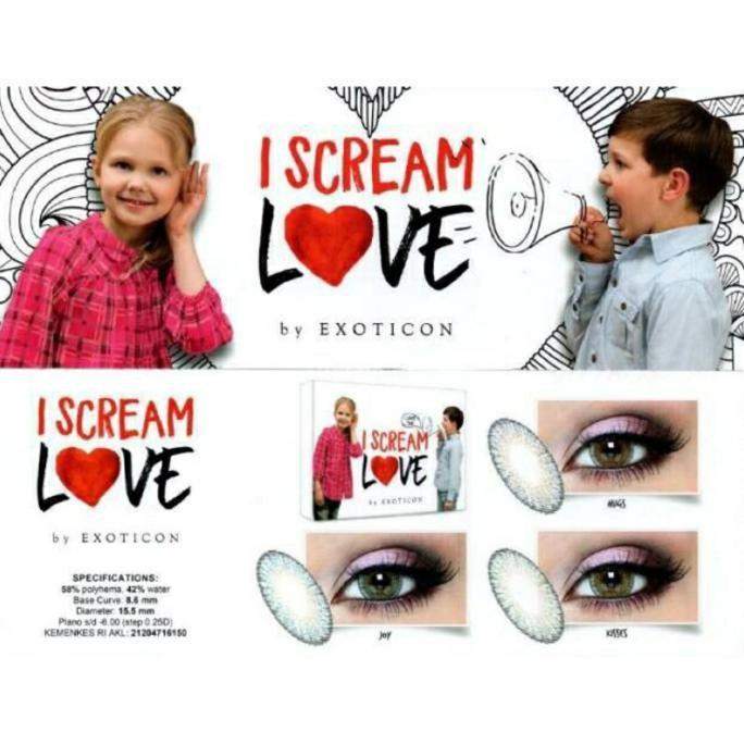 Softlens (Hugs) I Scream Love / I Scream Love Softlens 15.5Mm Normal Murah