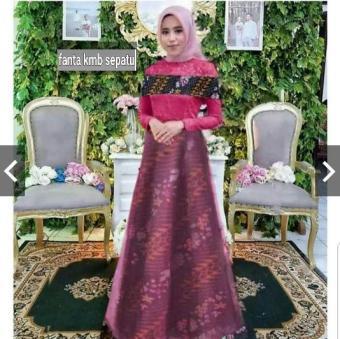 Price Checker Moslemwear Gamis Batik Pesta Premium Sabrina Brukat