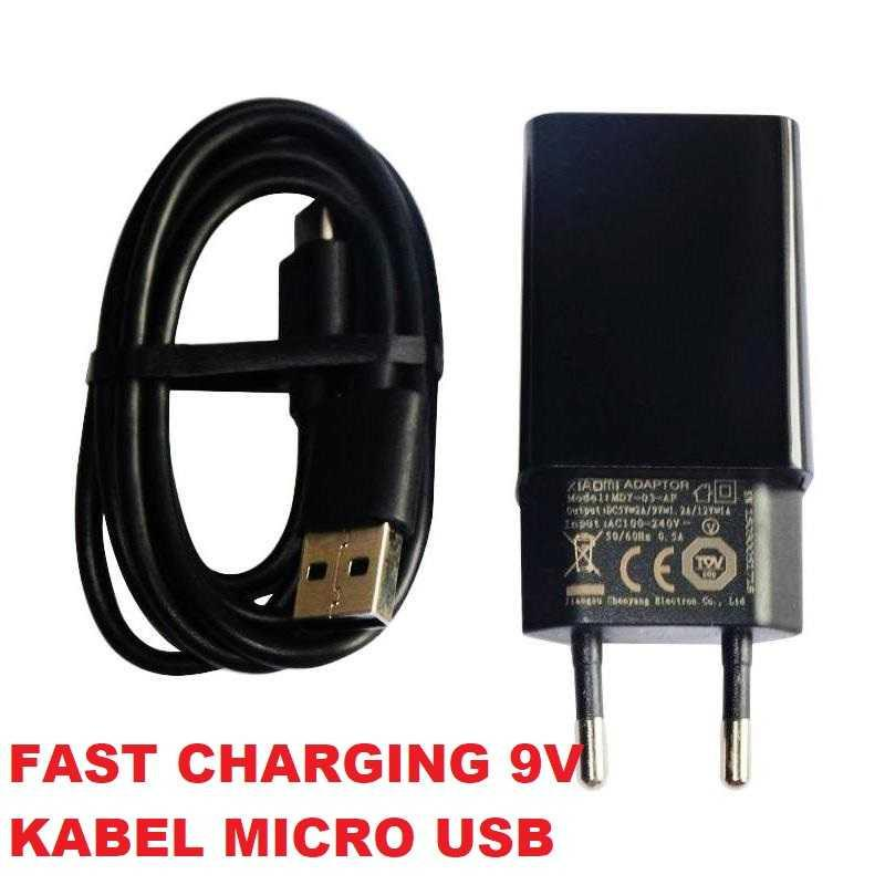 Charger Xiaomi SUPPORT Fast Charging 9V USB Micro USB Original 100% | Charging