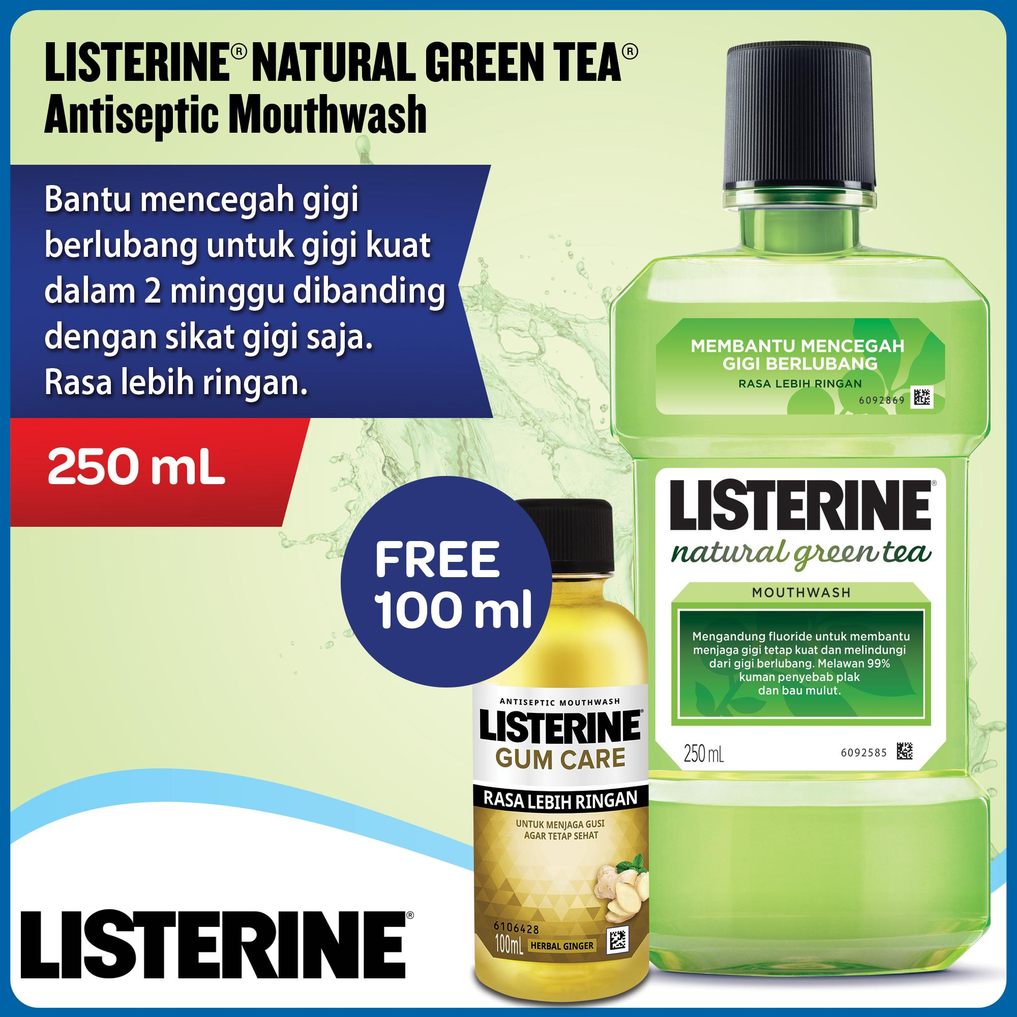 Buy Sell Cheapest Listerine Total Care Best Quality Product Deals Fresh Mouth Originalherbal Bau Mulut Green Tea 250ml Free Gum 100ml