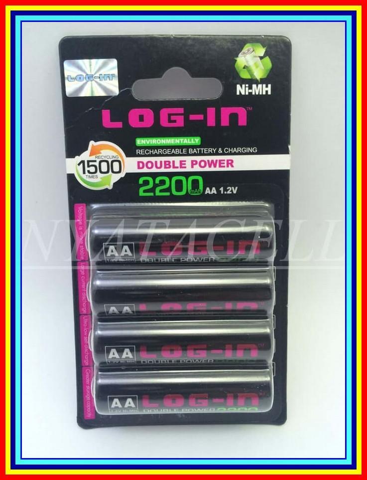 Baterai Log In Aa 1.2V Nimh Rechargeable Eneloop Isi Ulang