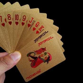 Kartu Remi Poker Lapisan Gold Foil/Kartu