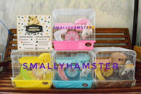 Kandang hamster , tupai HM 03 lengkap dengan mainan seperti digambarIDR195000. Rp 199.000