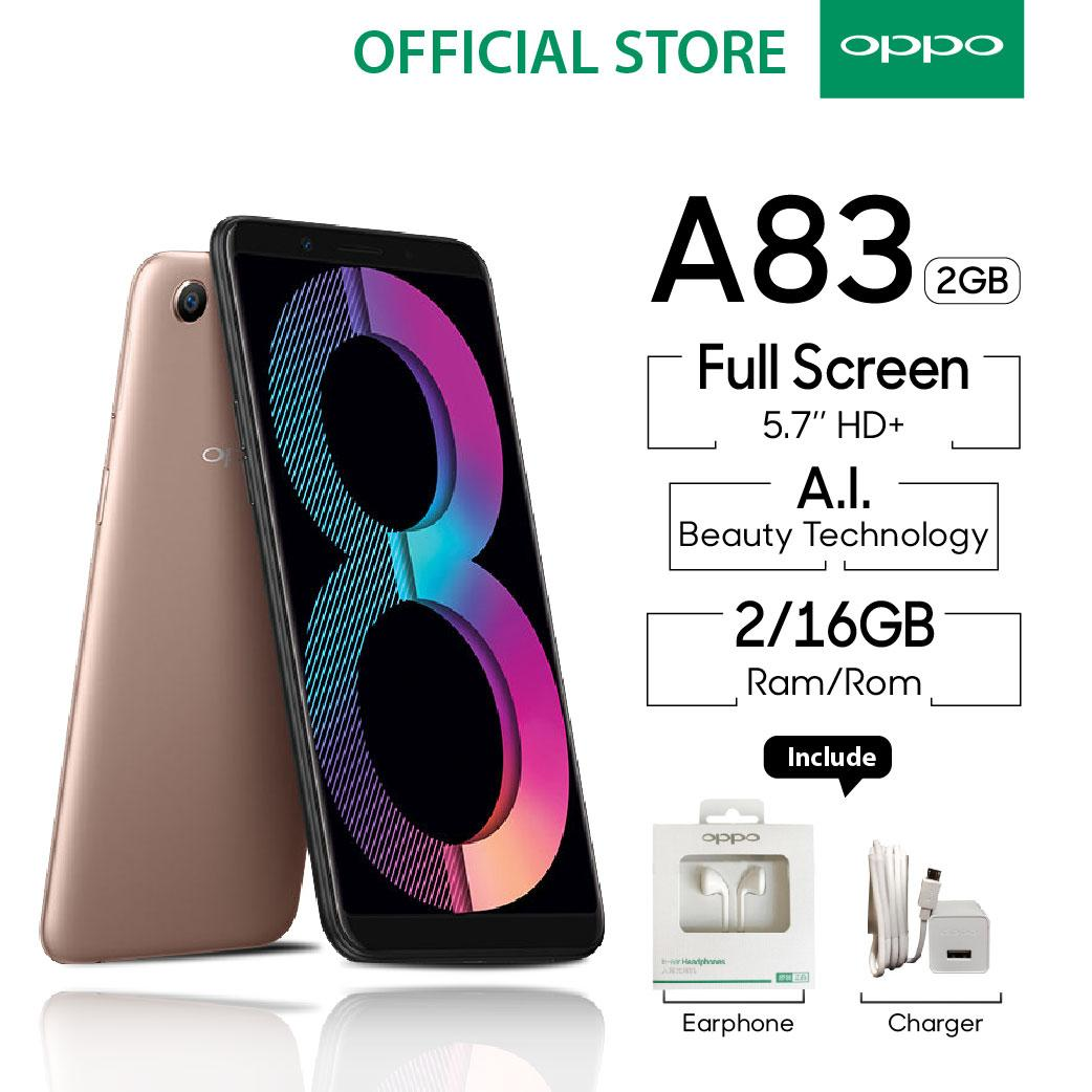 (FS) OPPO A83 Smartphone Beauty Camera 2GB/16GB - (Cicilan TANPA Kartu Kredit, Cicilan 0%)