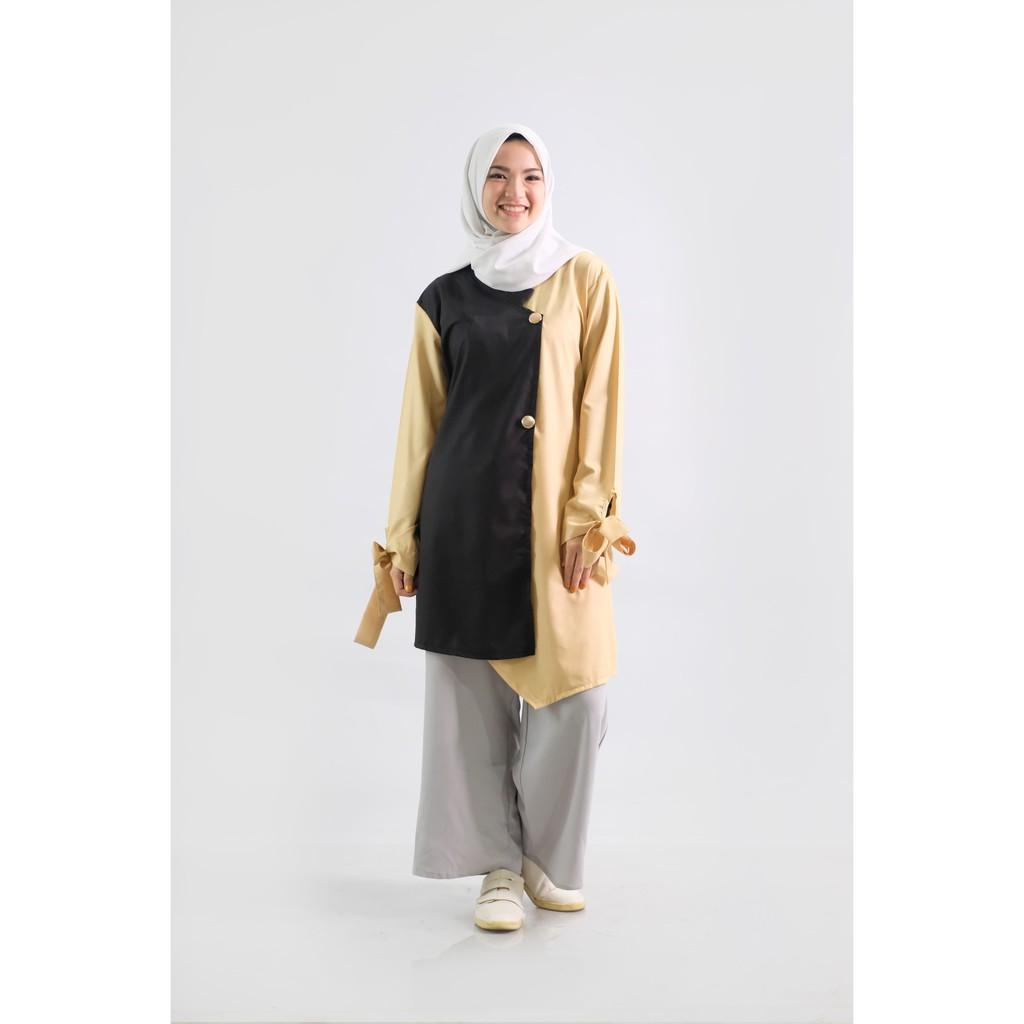 Zaskia Mecca - Faiva Black Yellow (All Size)