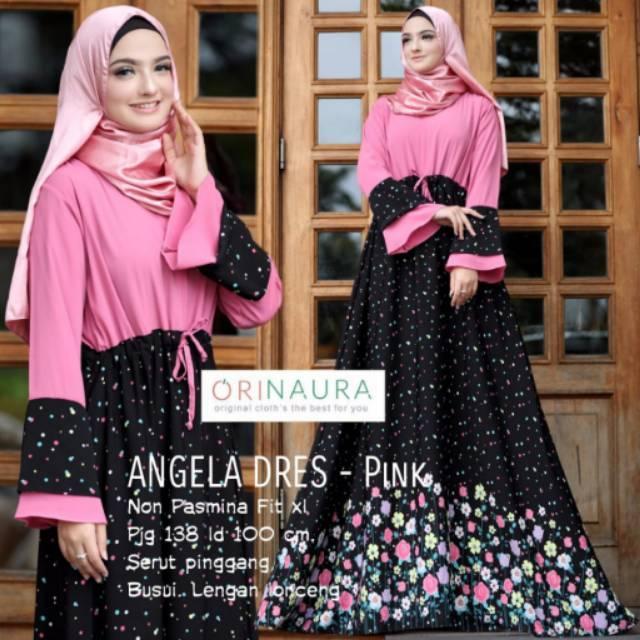 Gamis Motif Angela Dress Original Naura