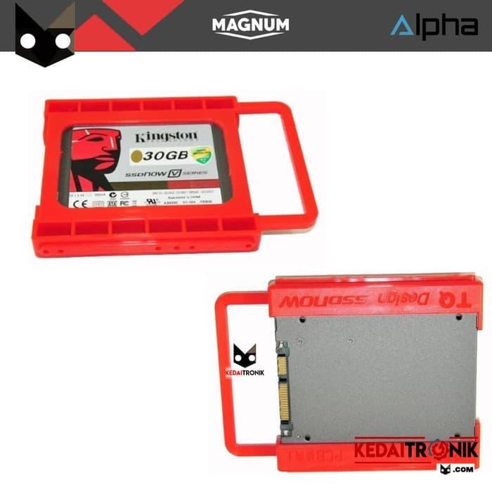 Bracket SSD MAGNUM 2.5 to 3.5 inch for PC HDD Braket Harddisk Merah