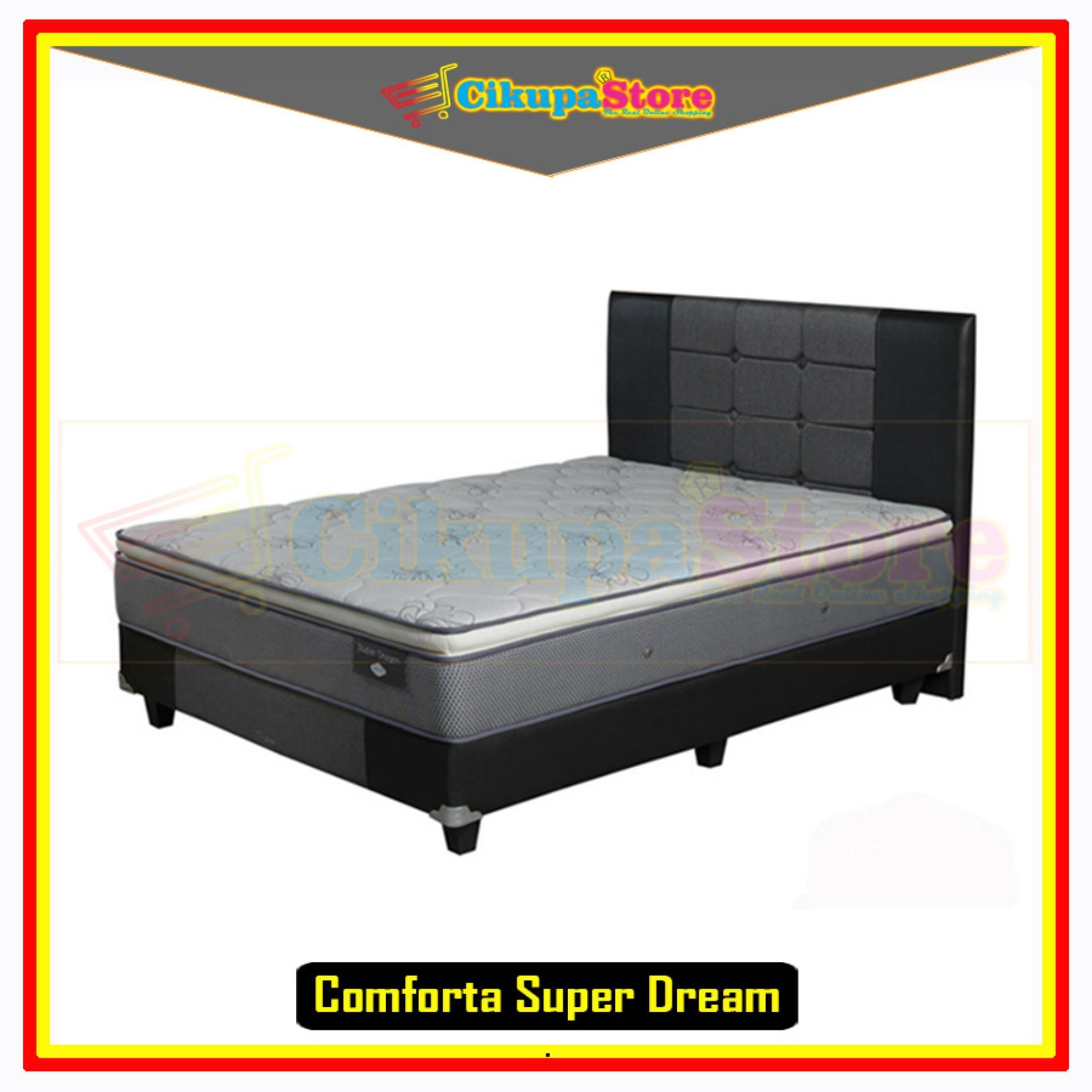 FREE ONGKIR !! Kasur Spring Bed Matras Comforta Super Dream - 160x200 Full Set Divan
