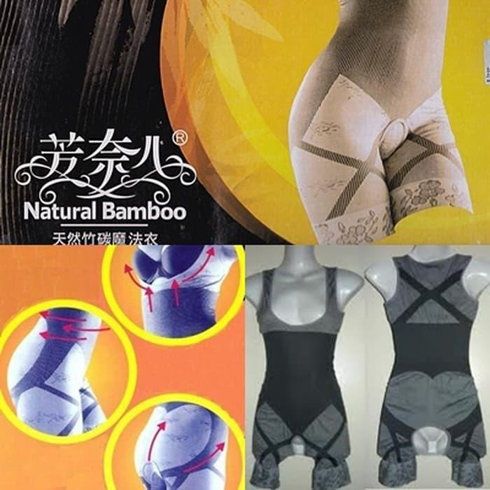 BEST SELLER!!! ORDER SEKARANG ... NATURAL BAMBOO Slimming Suit Pelangsing Tubuh/Badan - ma4xsh