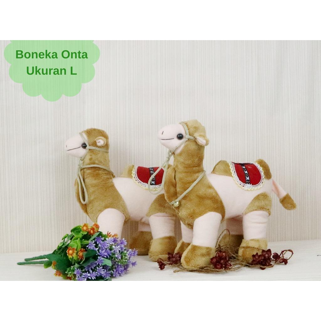 Boneka Onta Ukuran L/Boneka Onta Oleh Oleh Haji Umroh/Mainan Edukasi