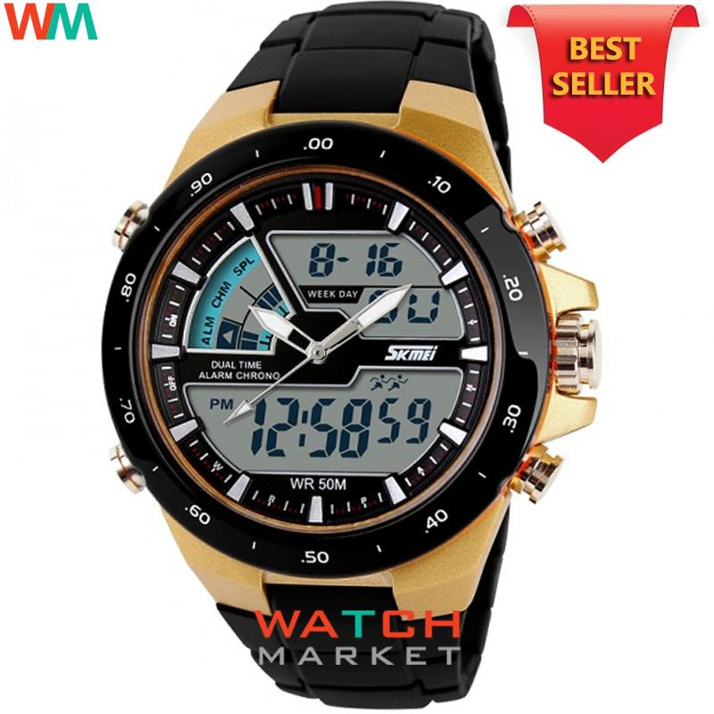 SKMEI Jam Tangan 1016 Pria Olahraga Tahan Air Analog Digital LED Multifungsi Waterproof Sports Men Watch