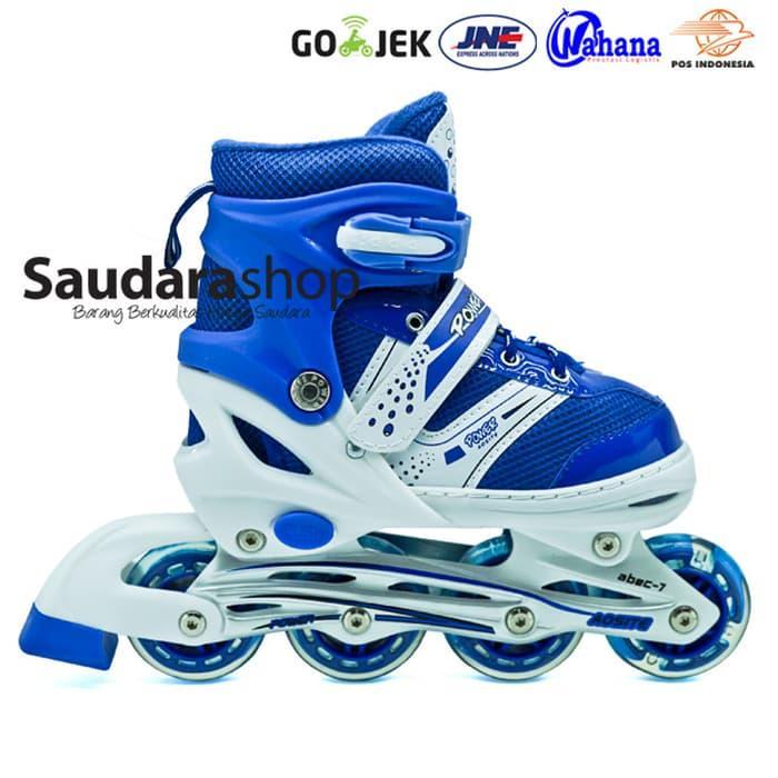 HARGA PROMO!!! sepaturoda / Sepatu Roda Murah / Sepaturoda POWER SUPER jait BIRU - mU5DNX