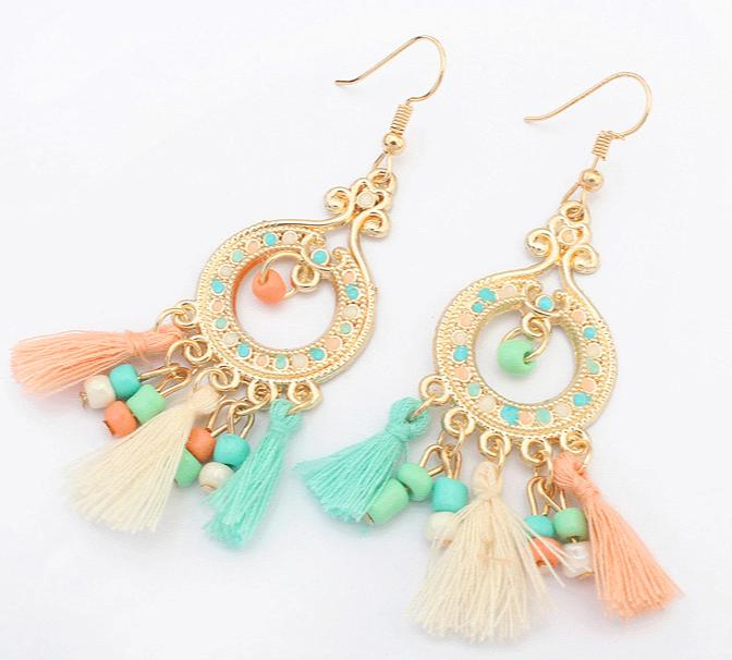 PROMO SAAT INI anting panjang rumbai bohemia fashion earrings jan079 TERLARIS