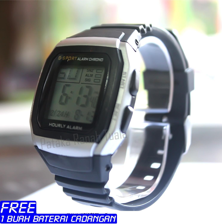 Jam Tangan Sports Wanita Terlengkap Sport Watch Skmei 1142 Water Resistant 50m Hitam Strap Karet Digital Unisex Pria