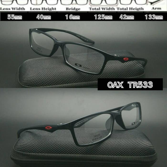 Diskon 10%!! Oakley Tr533 Black Doff Frame Kacamata - ready stock