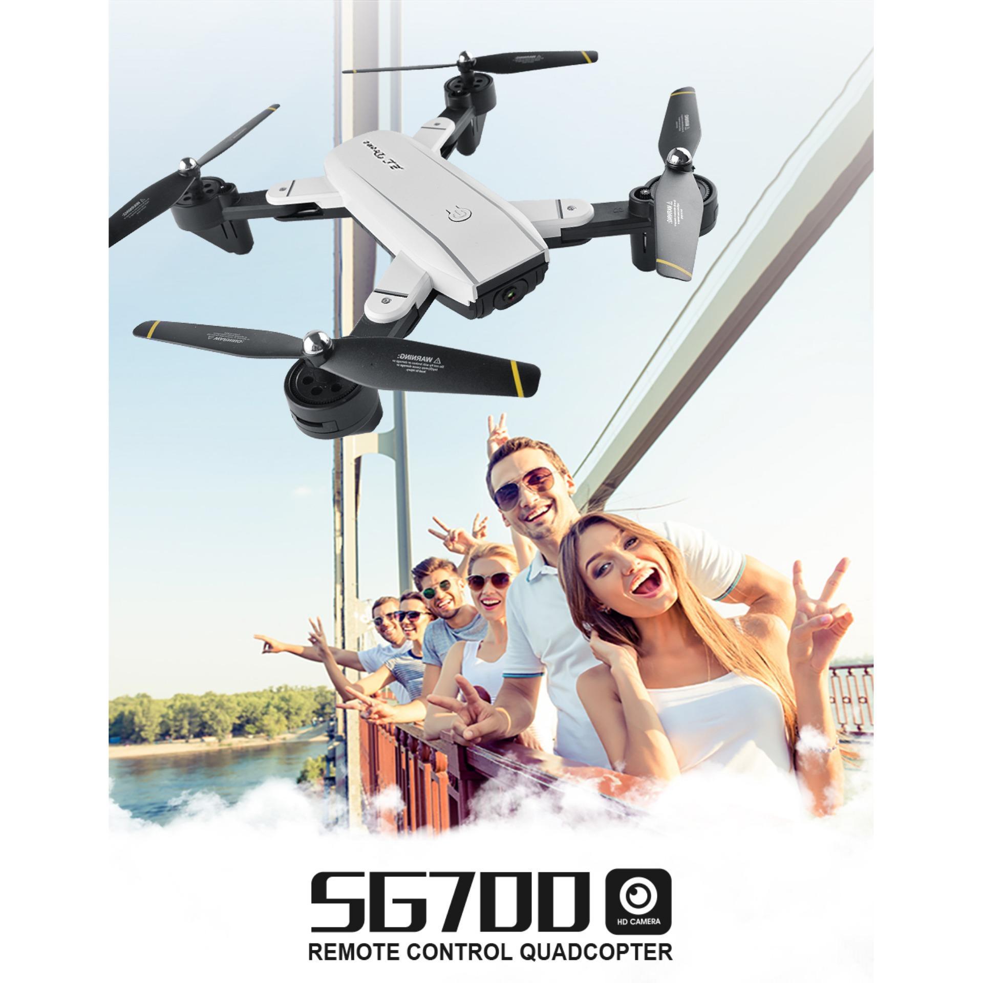 Lb SG700 2MP RC Pesawat Berkamera dengan Empat Baling-baling Wifi FPV Lipat Drone Selfie Ketinggian Terus Tanpa Kepala Kontrol Gestur Drone Vs E58 Spesifikasi: 30 W Kamera
