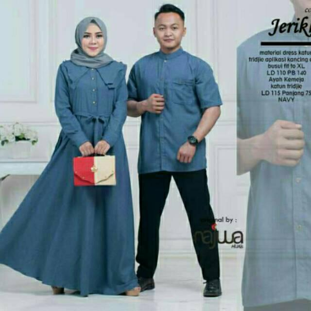 Gamis+Kemeja Jerikho Couple Ori Najwa Longdress Maxi/Jeriko (Cp Softcream)