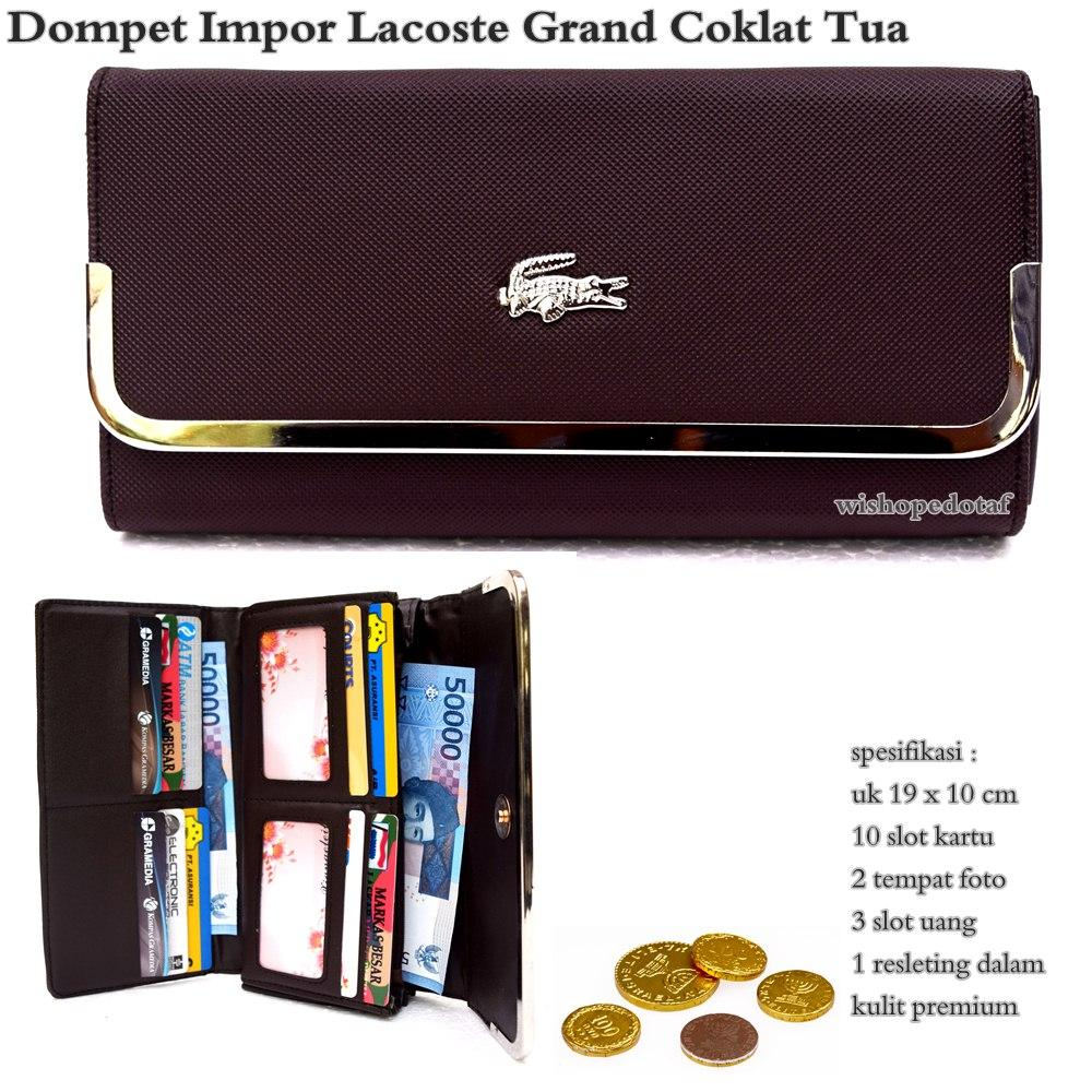 Dompet wanita lacoste grand import