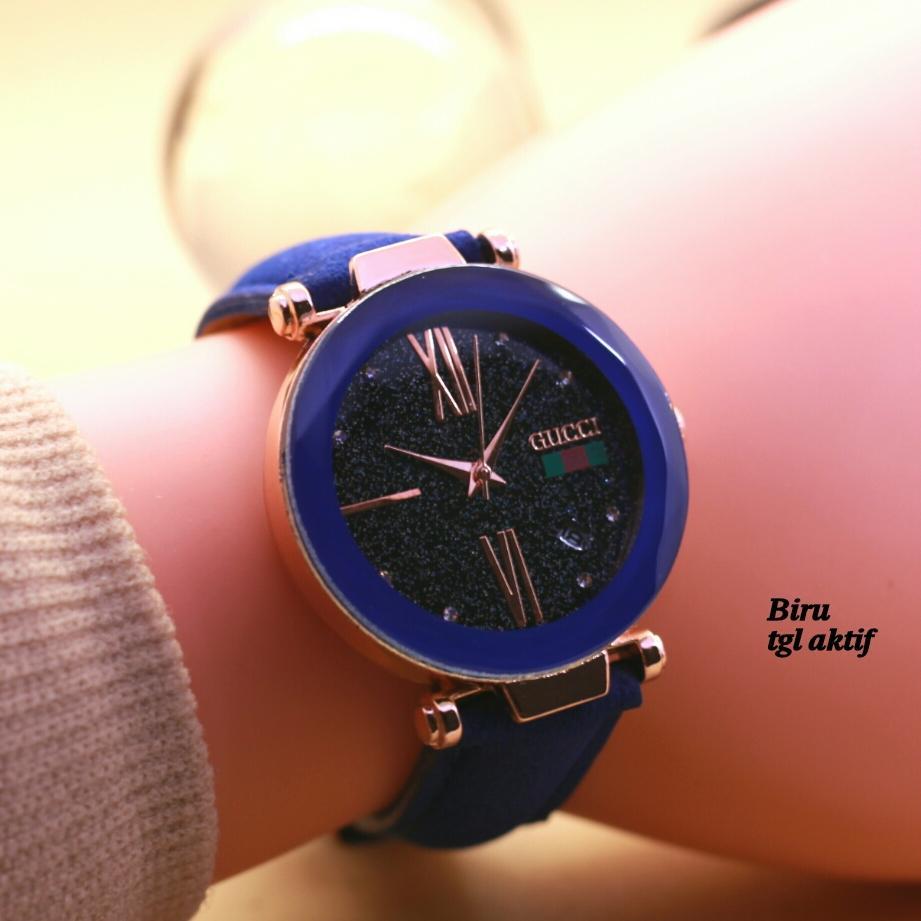 Jam tangan fashion wanita gucci kaca blimbing